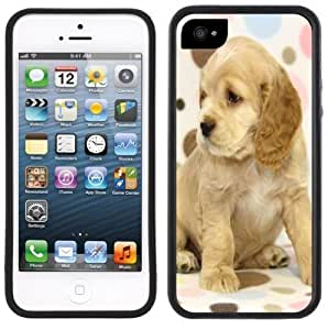 Cocker Spaniel Puppies Handmade iPhone 5 Black Bumper Plastic Case