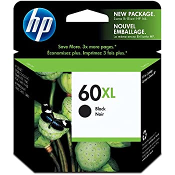 HP 60XL Black High Yield Original Ink Cartridge (CC641WN)