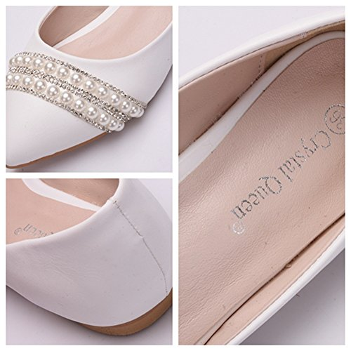 MSFS Zapatos De Mujeres Mocasines Planos Boda Bailarina Diamante De Imitaci/ón Novia Fiesta Tama/ño 35 A 42