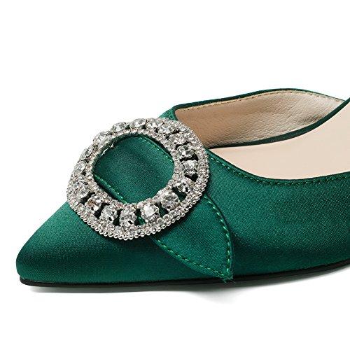 Fashion Toggle Urethane Womens Green SLC03946 AdeeSu Solid Sandals 6Ttwnq5nax