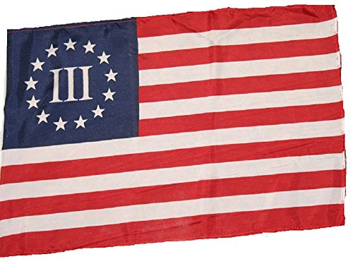 (ALBATROS 12 inch x 18 inch Betsy Ross Nyberg 3 Percent Patriot Garden Sleeve Flag for Home and Parades, Official Party, All Weather Indoors Outdoors)