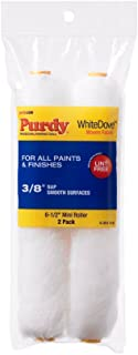 product image for Purdy 140605062 Wire Mini Roller Replacements White Dove, 2 pack, 6-1/2 inch x 3/8 inch nap