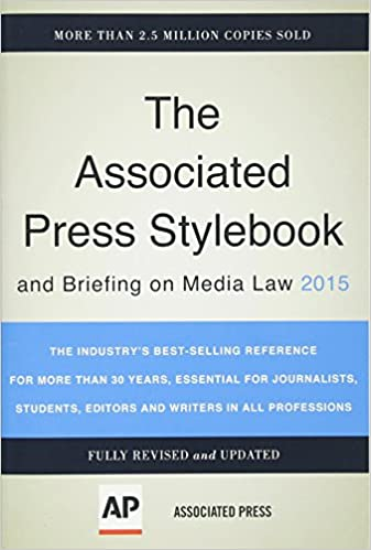 178d4b5782 Associated Press Stylebook 2015 and Briefing on Media Law 46th Edition