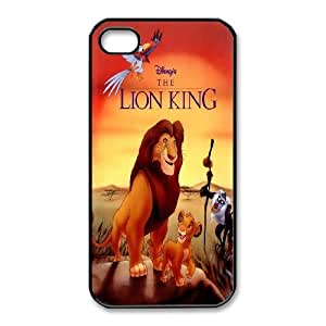 Personalized Durable Cases Abwzd iPhone 4,4S Black Phone Case The Lion King Protection Cover