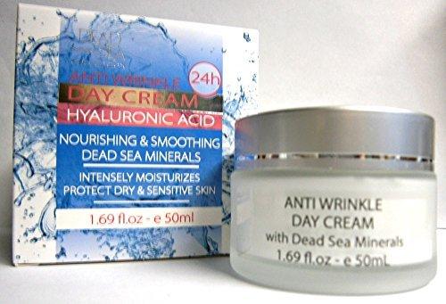 Hyaluronic Acid Anti Wrinkle Day Cream w/ Dead Sea Minerals 1.69 Oz - Dead Sea Collection