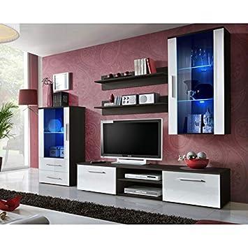 ASM Ensemble Mural - Galino J - 2 vitrines LED - 1 Meuble TV ...