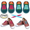 No Tie Shoelaces for Kids and Adults, YUANFENG Tieless Elastic Silicone Waterproof Flat Athletic Running Shoe Laces ¡