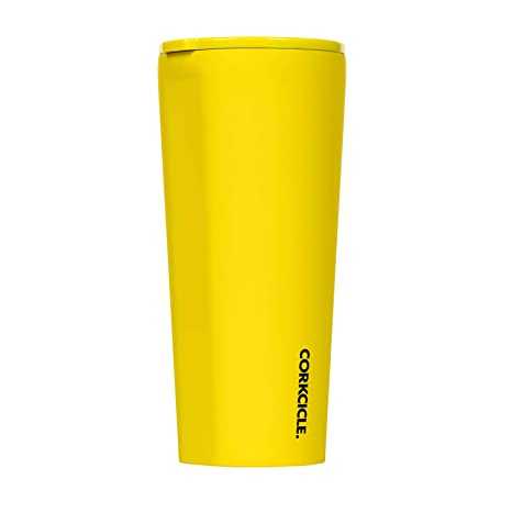 bc9575090a3 Amazon.com: Corkcicle Tumbler - Neon Lights Collection - Triple Insulated  Stainless Steel Travel Mug, Neon Yellow, 24oz: Kitchen & Dining