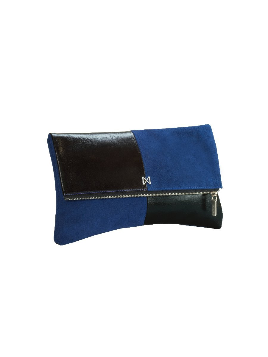 ESOTERIC Leather and Suede Dual-Textured Colorblock Foldover-Style Clutch by MOFE (Image #2)