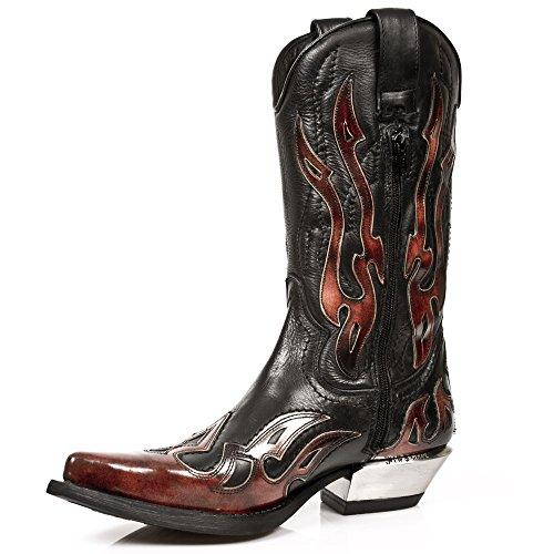 Stivali S2 rossi neri neri 7921 rossi e fiamma e rocciosa Stivali della della UIqIpxFZ