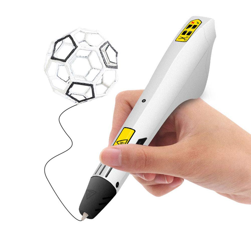 Children's Charging 3D Printing Pen ABS Environmentally Friendly and Odorless Material Three-Speed Easy to Operate Low Temperature 3D Art Graffiti Brush Toy Gift by M3M