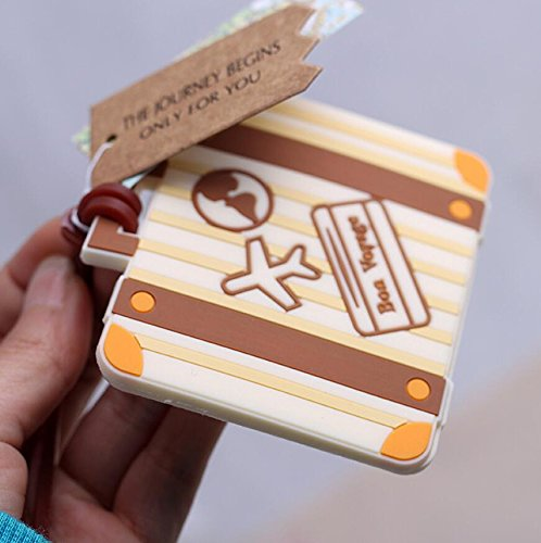 90pcs ''Let the Journey Begin'' Vintage Suitcase Luggage Tag Baby Shower Gifts & Wedding Favors by cute rabbit