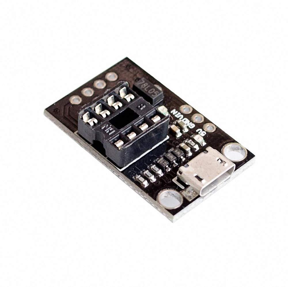 10pcs//lot Pluggable Development Board for ATtiny13A//ATtiny25//ATtiny45//ATtiny85 Programming Editor Micro USB Power Connector