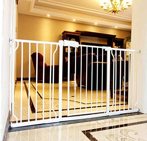 Fairy Baby Extra Wide Baby Gate with Extensions for Stairs Walk Through Easy Auto Close Child Pets Safety Gate,Fits Spaces Between 66.9