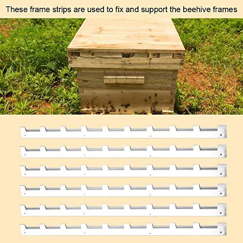New 6Pcs Durable Metal Beehive Frame Strips Spacers Beekeeper Nurturing Divider Beekeeping Tool Equipment Kangsanli