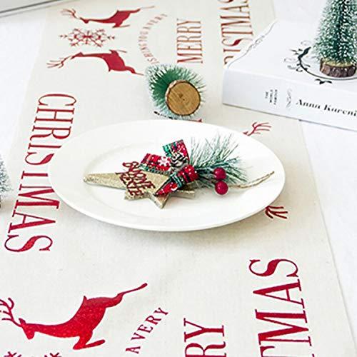 Merry Christmas Vine.Mydufish Classic Christmas Table Runner Reindeer Merry Christmas Vine Flowers Table Flag