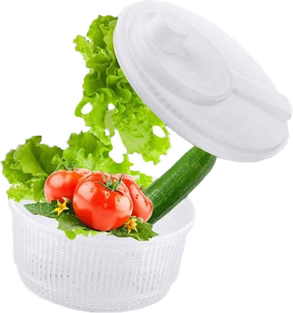 Cooking Details Salad Spinner 2 Quart Lettuce Vegetables Washer Dryer Drainer Crisper Strainer for Home Kitchen Washing /& Drying Leafy Vegetables BPA Free and Dishwasher safe