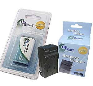 Kodak Easyshare Z712 IS Battery and Charger - Replacement for Kodak KLIC-8000 Digital Camera Batteries and Chargers (2000mAh, 3.7V, Lithium-Ion)