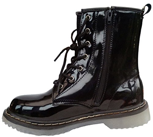 BXT Womens Boots in Black Patent Esub1G4LmT