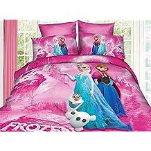 Children's Bedding Princess Elsa Anna Frozen Bedding Set, Queen, 4-Piece