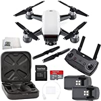 DJI Spark Quadcopter (Alpine White) + DJI Spark Remote Essential Bundle