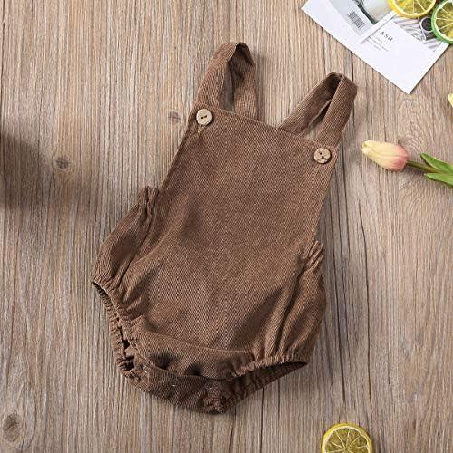 51urS0E%2Bi5L. AC - Moore-Direct Infant Newborn Baby Girl Corduroy Bandage Solid Color Bodysuit Romper Playsuit Clothes