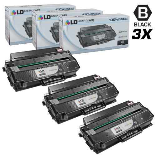 LD Compatible Toner Cartridge Replacement for Dell 331-7328 DRYXV (Black, 3-Pack)
