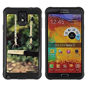 "Hypernova Defender Series TPU protection Cas Case Coque pour SAMSUNG Galaxy Note 3 III / N9000 / N9005 [Naturaleza Hermosa Forrest Verde 86""]"