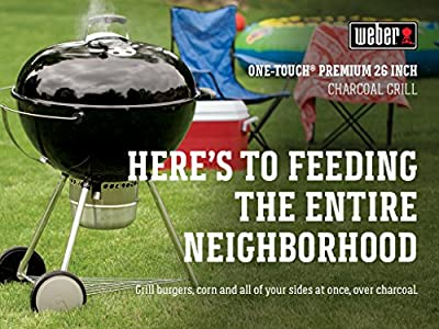 Weber Original Kettle Premium 26 Inch Charcoal Grill, Black from Weber-Stephen Products LLC