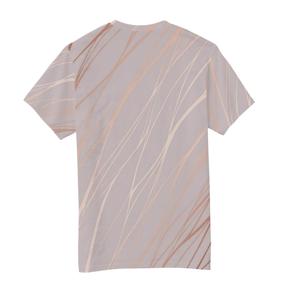 Rose Gold Wave Marble Pattern Mens T Shirts Graphic Funny Body Print Short T-Shirt Unisex Pullover Blouse