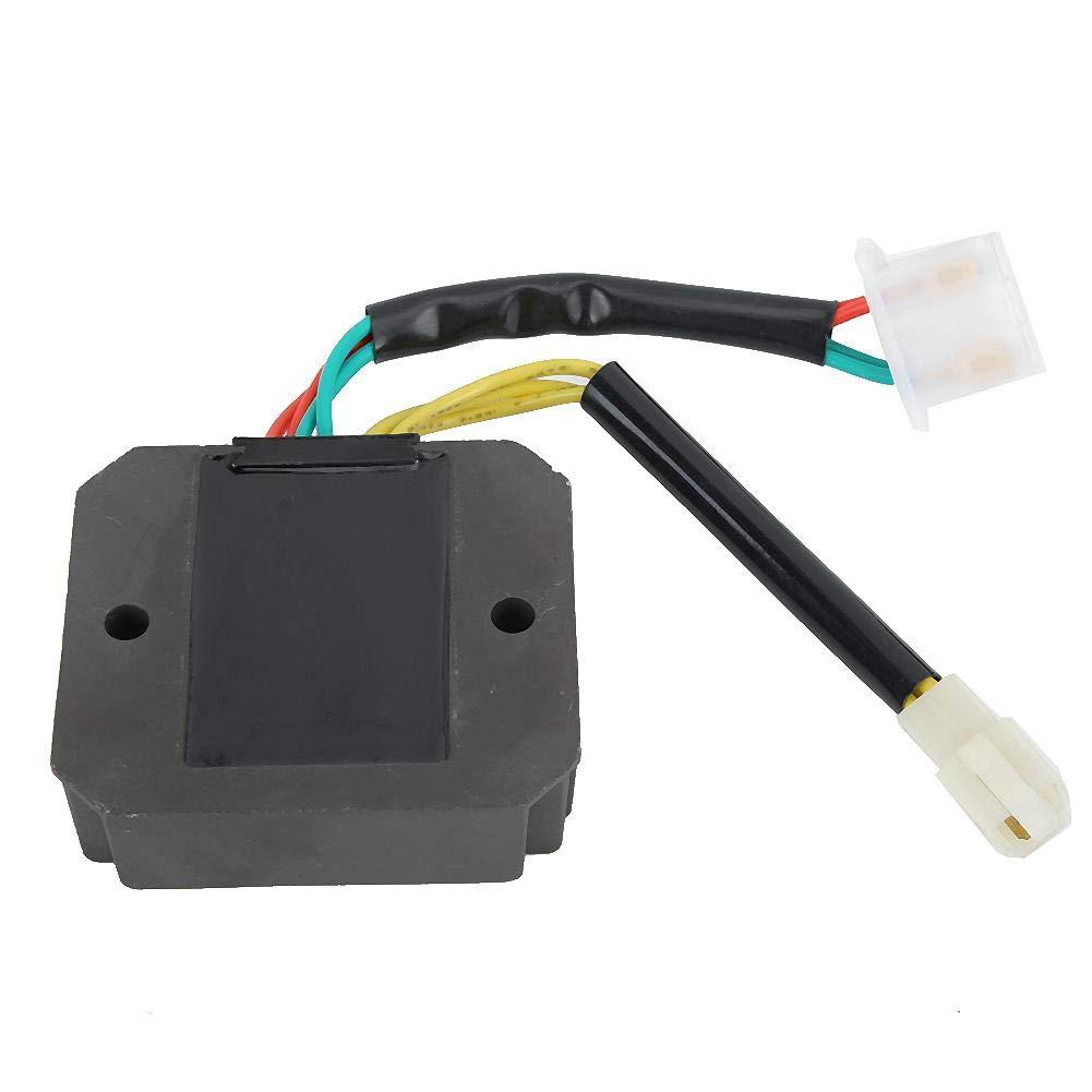 Gorgeri 3Pcs//Set CDI Doble Encendido Rectificador regulador Apto para XL 600 V Transalp 1989-1996 30410-MM9-830