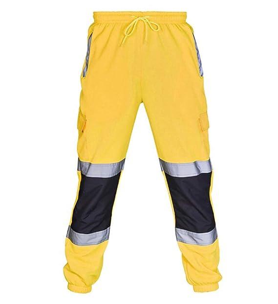 Uvex Protection Flash Pantalones De Seguridad Alta Visibilidad Con Cintas Reflectantes Y Multibolsillos Amarillo Pantalon De Trabajo Ropa