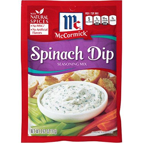McCormick Spinach Dip Seasoning Mix, 0.62 oz (Pack of 12)