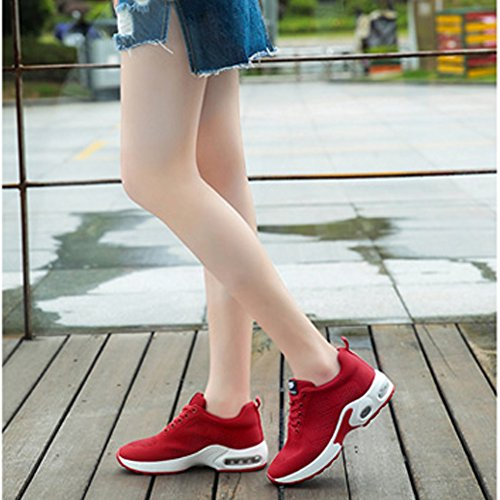 Scarpe Da Corsa Per Donna Con Cuscino Daria Tiosebon Leggere Scarpe Da Ginnastica Outdoor Traspiranti 6505 Rosso