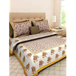 Fashion Cottage 19 Elephant Print 100% Pure Cotton Traditional Rajasthani Jaipuri 120TC (King Size 1 Double BedSheet…
