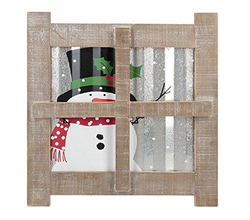 Ganz Small Plaque Snowman at Window Home Decor