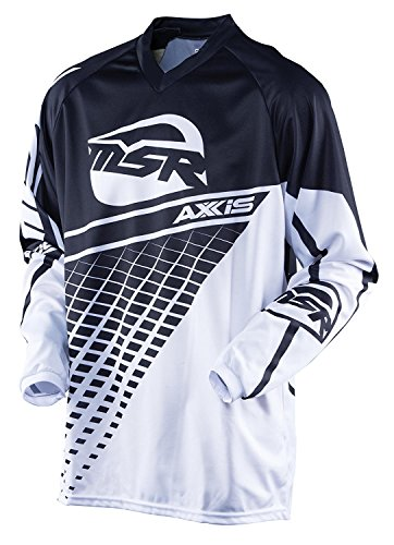 - MSR Youth Axxis Jersey, Distinct Name: Black/White, Gender: Boys, Primary Color: Black, Size: Lg, Size Segment: Youth, 352741