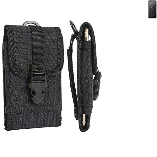 bolsa del cinturón / funda para Samsung Galaxy S9+, negro | caja del teléfono cubierta protectora bolso - K-S-Trade (TM)