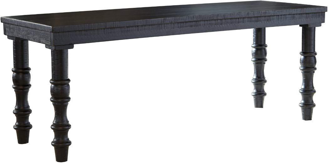 Signature Design by Ashley A3000160 Dannerville Accent Bench, Black by Signature Design by Ashley (Image #2)