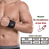 HiRui [2 PACK] Wrist Compression Strap and Wrist Brace Sport Wrist Support for Fitness, Weightlifting, Tendonitis, Pain Relief.etc - Wear Anywhere - Unisex, One Size Adjustable (Bl