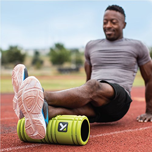 TriggerPoint Grid Foam Roller with Free Online Instructional Videos, Original (13-Inch), Lime