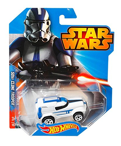 amazoncom hot wheels star wars character car 501st clone trooper toys games - Voitures Hot Wheels
