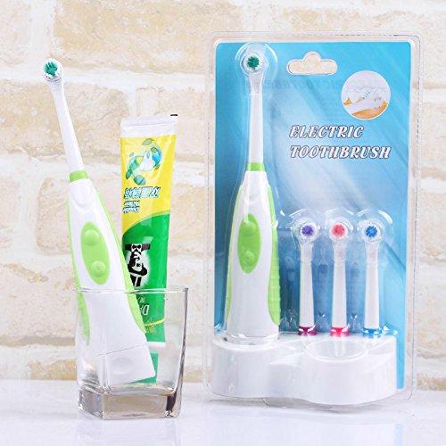 EZMax Brosse à dents électrique Brosse à dents Avec 4pcs tête et pied
