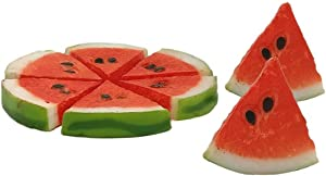 Fake Fruit, Artificial Fruits for Decoration, 8 Pcs Realistic Lifelike Watermelon Slices, Decorative Foam Fruits for Fake Fruit Bowl, Home Kitchen Table Cabinet Party Decor Photography Prop