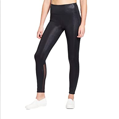 23f559fa2 JoyLab Women s Premium 7 8 Shine and Mesh Pieced High-Waisted Leggings - at  Amazon Women s Clothing store