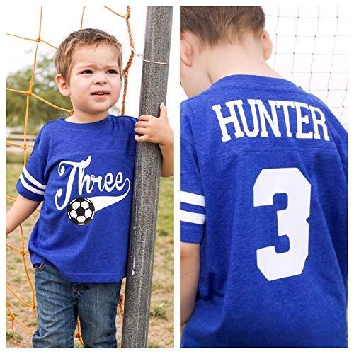 - 3rd Birthday Shirt, Soccer birthday shirt, third birthday shirt, youth soccer jersey, boys birthday party, sports birthday shirt