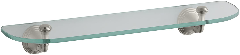 kohler k10563cp devonshire glass shelf polished chrome mounted bathroom shelves amazoncom