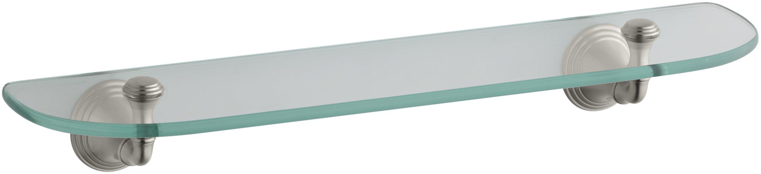 KOHLER K-10563-BN Devonshire Glass Shelf, Vibrant Brushed Nickel