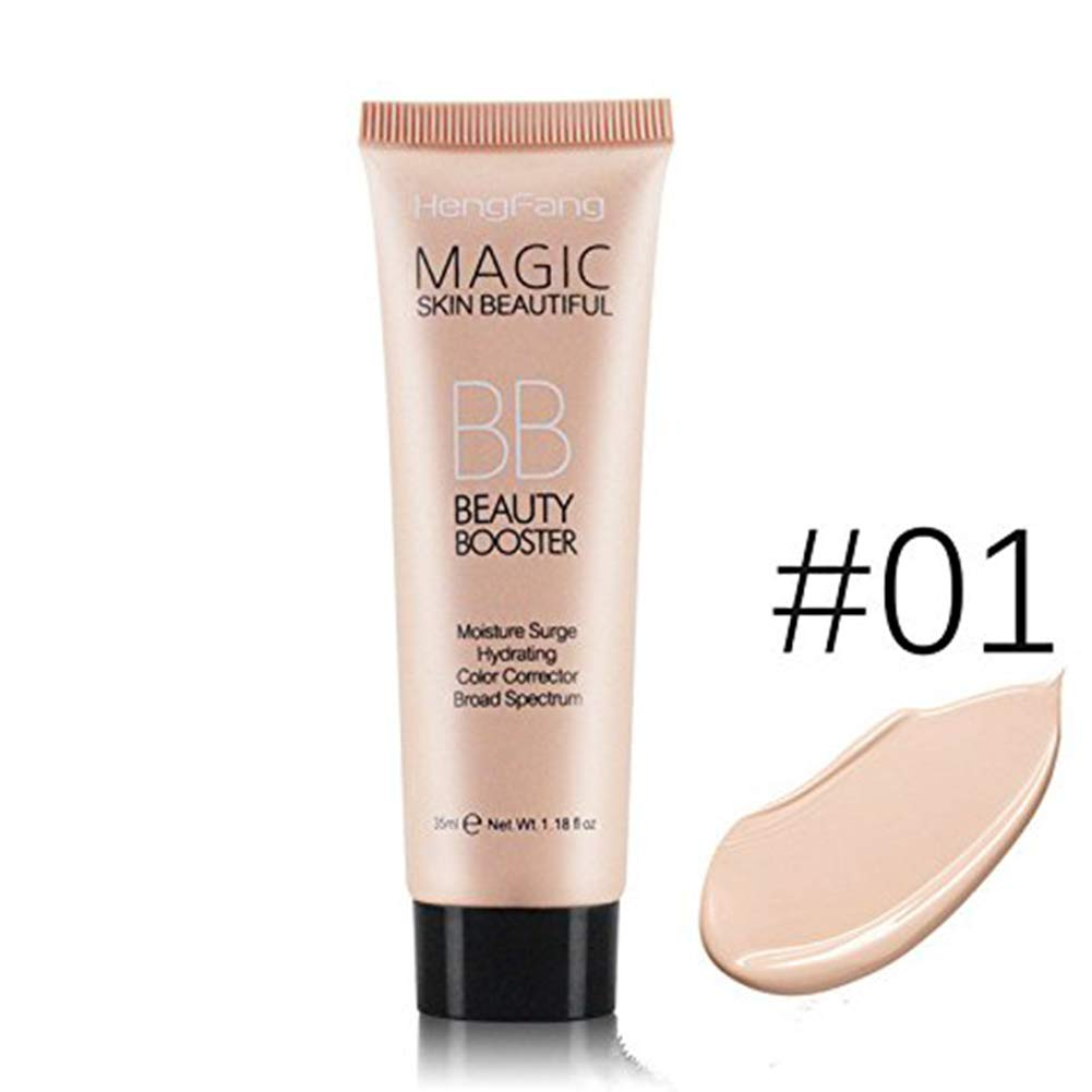 Lasting BB Cream Hydrating Moisturiser Makeup Concealer Foundation Light and Breathable Non-Greasy 40g (Natural Color) Keersi