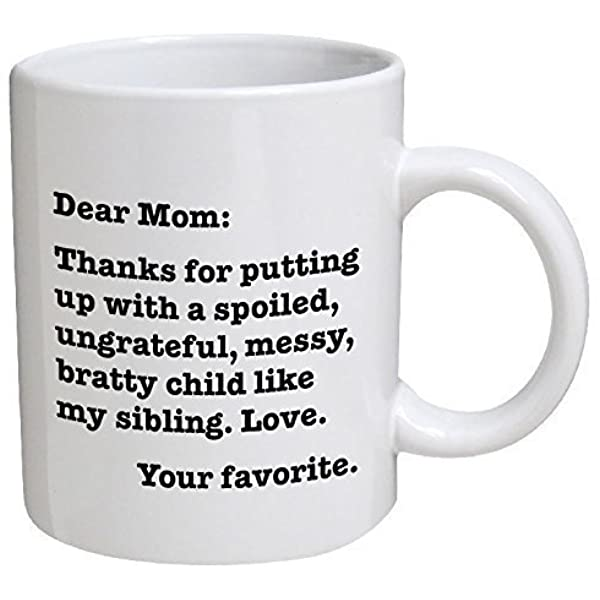 Funny Mom Mug Mother Unique Gift Idea Thanks For Doing It With Dad